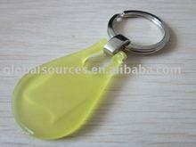 Rain Drop Shape Plastic Key Ring Metal Key Chain
