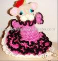 Moda e bonita de crochê feito à mão Dolls com padrão de vestido