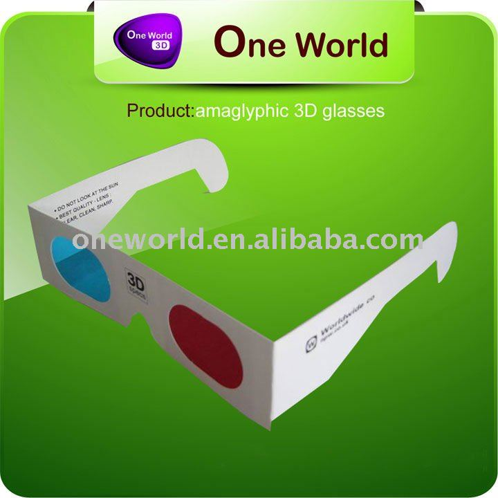 anaglyph 3d glasses_28. hd 3d video plastic glasses