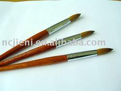 high quality professional kolinsky nail art brush with 100%redwood handle