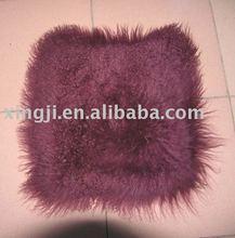 Dyed Tibet lamb fur cushion cover