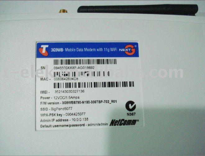 bigpond 3G9WB 7.2Mbps HSUPA broadband network gateway with embedded module MC8790