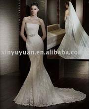 Gorgeous Trumpet/Mermaid Stomacher Design Chapel CLassic SPT-263 wedding dress for slim brides