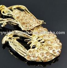 Fashion Metal Swaroski Rhinstone Enamel Lobster Key Chain , Key Ring SY12458