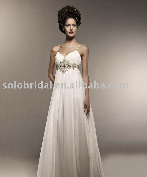 SH0014 exclusive chiffon Grecian wedding dress