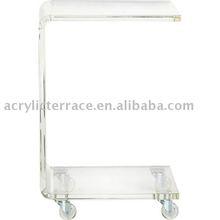 Acrylic C table With Wheel