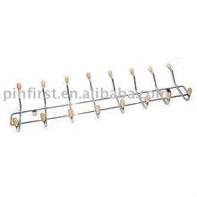 New 8 Hook Iron Plastic Wall Coat Rack
