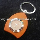 Wooden keyring with watch