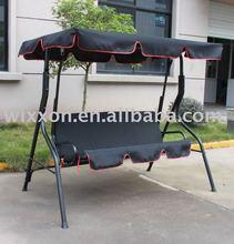 3-seat patio/garden swing in black color