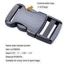 Plastic side release buckle