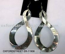 2011 new design elegance earring rhodium&metal plating