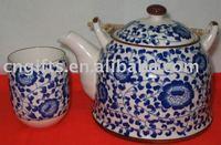 Hot sell wholesale various design ceramic tea set with 1 tea pot and 6 tea cup