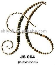 hot fix convex metal design , nail head stone transfer motif