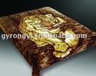 100% ployester raschel quality printing mink double blanket