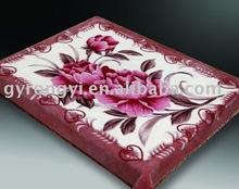 100% polyester printed plush blanket 3-10kg