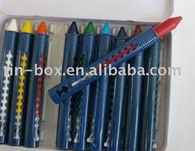 wax crayon with tin box set