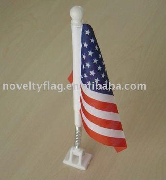 adjustable American desk flag with plastic base