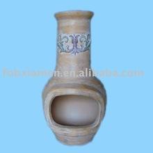 unique indoor terracotta chiminea