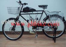 "26"" steel 50cc engine moto gas beach cruiser bike"