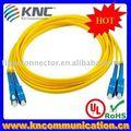 Sc-sc sm dúplex de fibra óptica patch cord