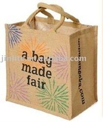 fashion jute carry bag