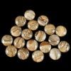 C164 Owyhee Picture Jasper Puffy Coin Cabochon semi-precious gemstone