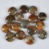 C177 African Green Opal Puffy Coin Cabochon semi-precious gemstone