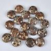 C179 Frog's Eye Jasper Puffy Coin Cabochon jewelry