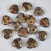C183 Frog's Eye Jasper Puffy Heart-shaped Cabochon semi-precious gemstone