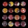 C186 Mookaite Jasper Puffy Coin Cabochon semi-precious gemstone