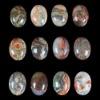 C192 Blossom Agate Puffy Oval Cabochon semi-precious gemstone