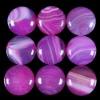 C204 Pink Onyx Agate Puffy Coin Cabochon semi-precious gemstone
