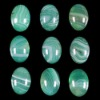 C208 Green Onyx Agate Puffy Oval Cabochon semi-precious gemstone