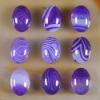 C211 Purple Onyx Agate Puffy Oval Cabochon semi-precious gemstone