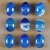 C212 Blue Onyx Agate Puffy Oval Cabochon semi-precious gemstone