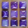 C216 Purple Onyx Agate Puffy Square Cabochon semi-precious gemstone