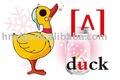 Inglês de aprendizado de cartão - - para crianças que estudam símbolos fonéticos