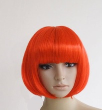 BoB wig hair wig cosplay wigs red pink white
