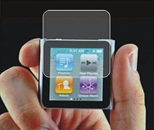 LCD screen protector with transparent for iPod nano6