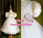 Sweetheart White Organza with Beaded on Fashionable christening dress