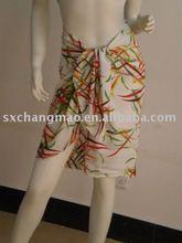 2015 new design rayon beach pareo,beach sarong