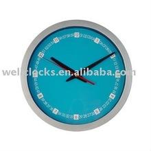 Quartz wall clock plastic