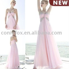 coniefox hotsale discount perfect pink bridal party dresses 80616