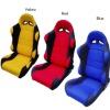Reclining racing seat & car seat fabric