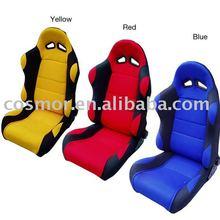 Reclining racing car seat Adjustable
