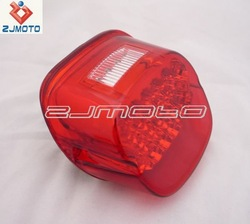 Universal ABS RED LED Tail Brake Light Bright LED Tail lamp License Plate Taillight Lamp Fit Custom Motorcycle Chopper