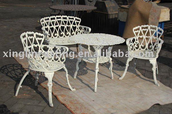 mesa de jardim ferro:Ferro fundido parque mesa e cadeira-Cadeiras de metal-ID do produto