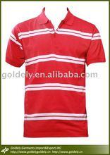 Hotsellig men's short sleeve Striper polo shirt