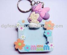 photo frame pvc key chain