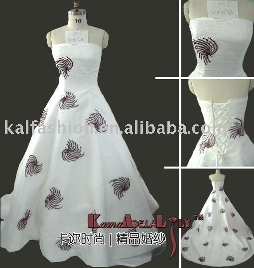 1389B Aline beading organza designer corset wedding gown bridal gown